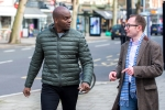 Shaun Bailey (left) and Nicholas Rogers discussing issues important to Londoners